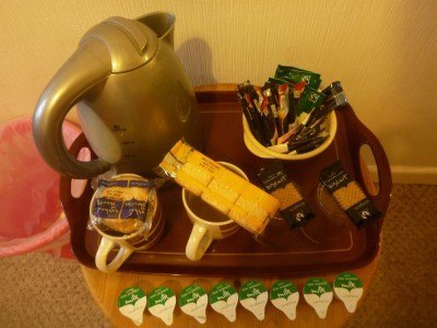 Tea, coffee and biscuits