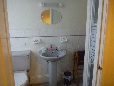 The ensuite bathroom in the Lea Hurst Hotel