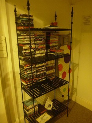DVD selection at the Lea Hurst