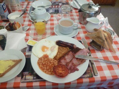 My full English Breakfast at the Lea Hurst