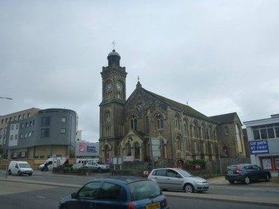The church on the Holdenhurst Road near the Lea Hurst Hotel