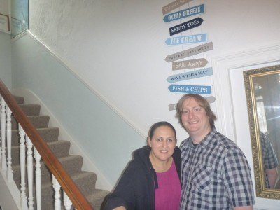 Kat and James - the couple who own and run the Lea Hurst Hotel