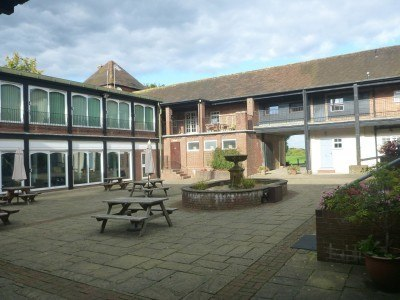 The courtyard can be used for functions.