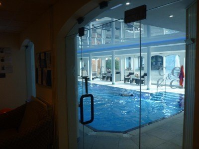 The swimming pool complex at Cottesmore