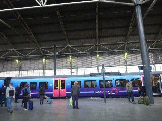 Leeds train station, England