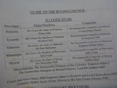 Guide to the Ruling Council