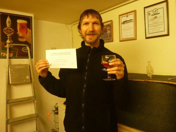 First tourist to visit the Capital Brewery in the Empire of Adammia