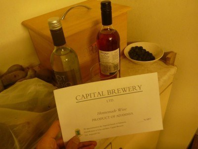 Beer and wine is produced by Capital Brewery in Adammia