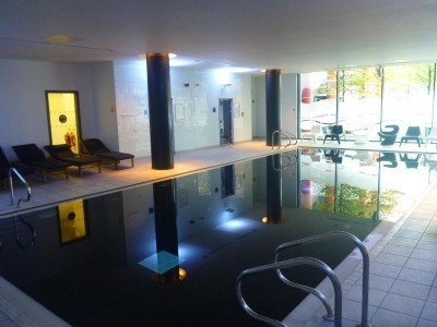 The swimming pool, sauna and steam room