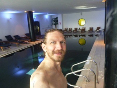Enjoying my time in the pool at the Park Inn by Radisson in Manchester