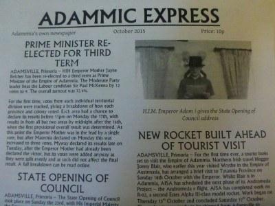 Adammic Express, national newspaper