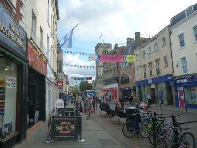 Downtown Gloucester City, England