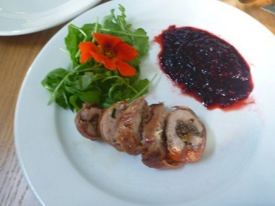 Friday's Featured Food: Stuffed Partridge Breast in the Forest of Dean, England