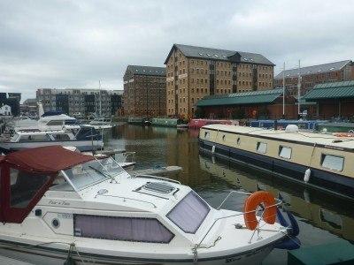 The historic docks in Gloucester