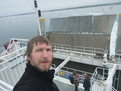 On board the Condor ferry