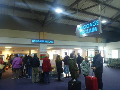 Baggage claim in St. Helier Jersey