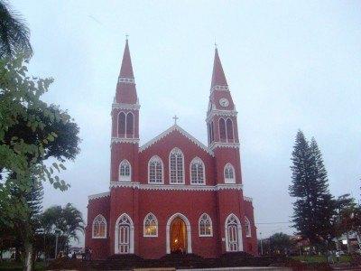 The tin church in Grecia, Costa Rica