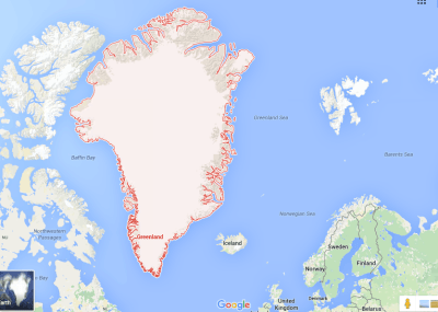 Greenland is massive!