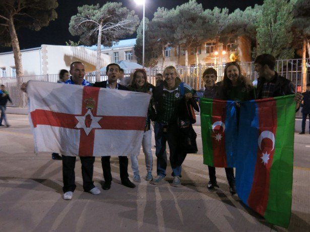 Azerbaijan away with Northern Ireland in Baku, 2013.