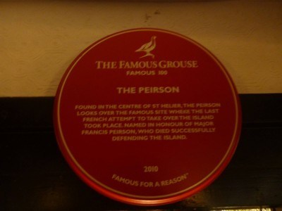 A plaque in the Peirson