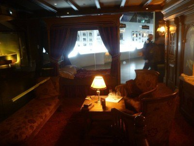 A first class cabin on the Titanic