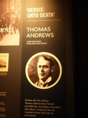 Thomas Andrews body was never found