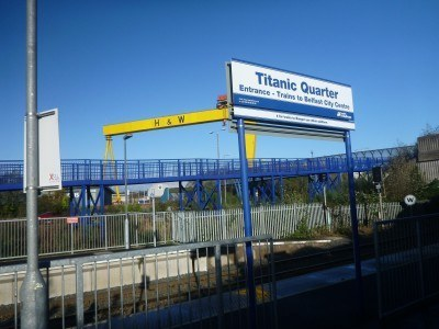 Titanic Quarter train station in Belfast