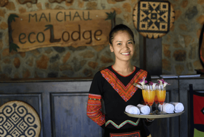 Welcoming at Mai Chau Ecolodge