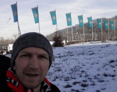 Tired in Almaty on Christmas Eve. Salam Kazakhstan!