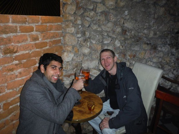Drinking in Krakow - beers with Loic