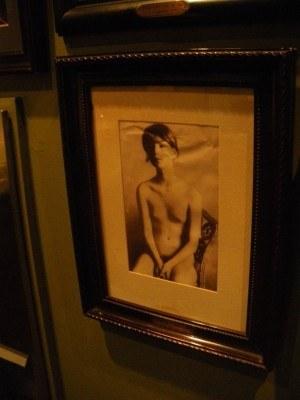 Naked girl on the wall in Cafe Batavia's pisser