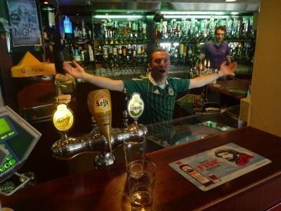 Pre match banter with Andrew Milliken in Glitnir Bar
