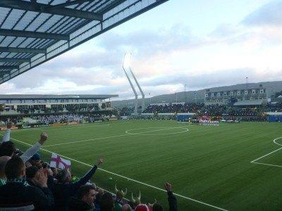 The national football stadium in Torshavn