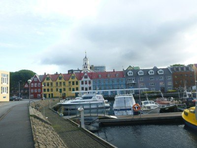 The seafront and harbour in Torshavn