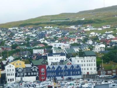 The city of Torshavn, Faroe Islands