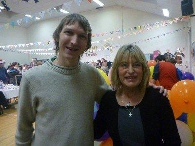 Jonny Blair and Mrs. Melanie Thompson, some 31 years later.