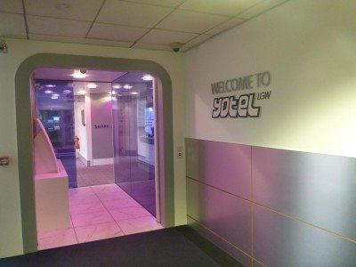 Arrival at the Yotel in Gatwick Airport, London