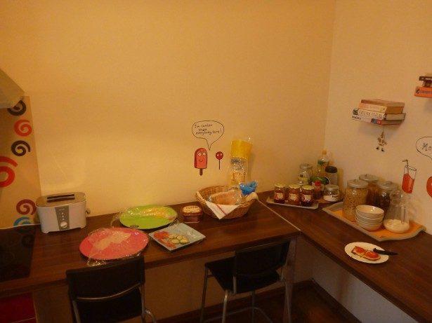 Breakfast in the Poco Loco hostel
