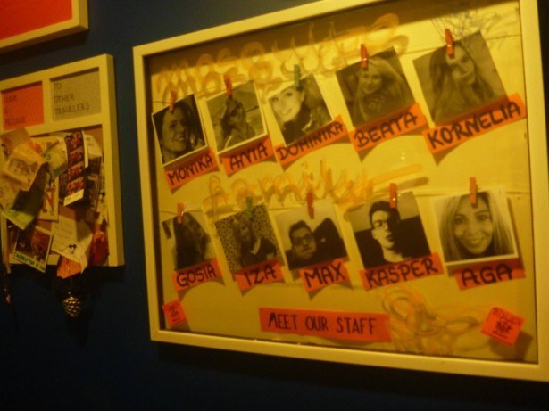 The famous staff members of Mosquito Hostel, Krakow