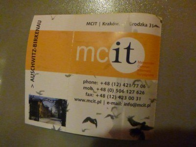 MCit is the name of the tour company that we were with.