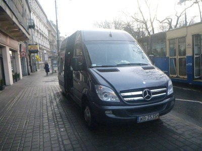 Our black minibus to Auschwitz