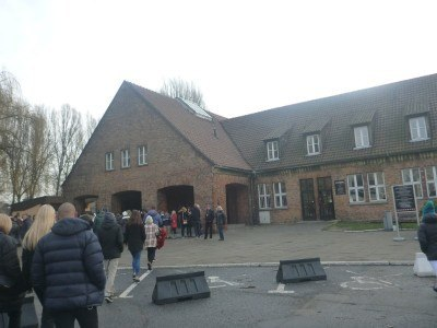 Arrival at the Auschwitz Memorial Museum and Centre