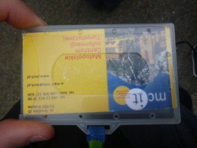 My visitor card for Auschwitz