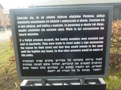 Information by the gates of Auschwitz
