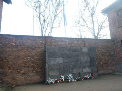 The death wall in Auschwitz