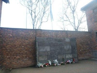 The death wall in Auschwitz