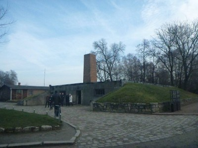 A gas chamber at Auschwitz