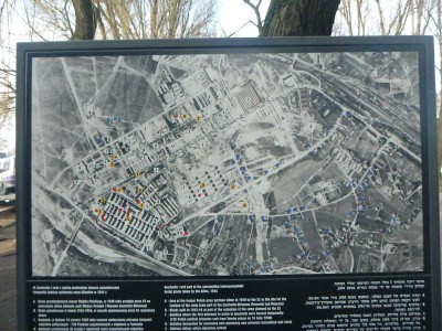 A map of the Auschwitz Camp