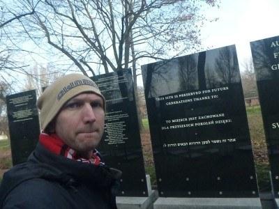 A memorial at Auschwitz
