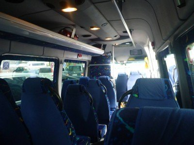 The mini-bus to Auschwitz